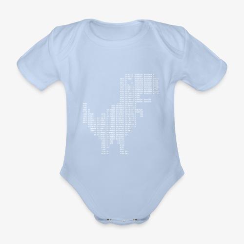 Google dinosaur   Dinosaur Binary   Dino   404 - Organic Short-sleeved Baby Bodysuit
