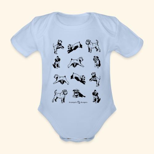 Brussels Griffon pattern - Body Bébé bio manches courtes