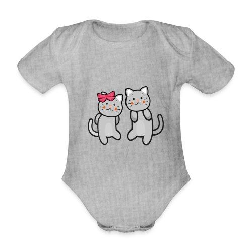 Kotki - Ekologiczne body niemowlęce z krótkim rękawem