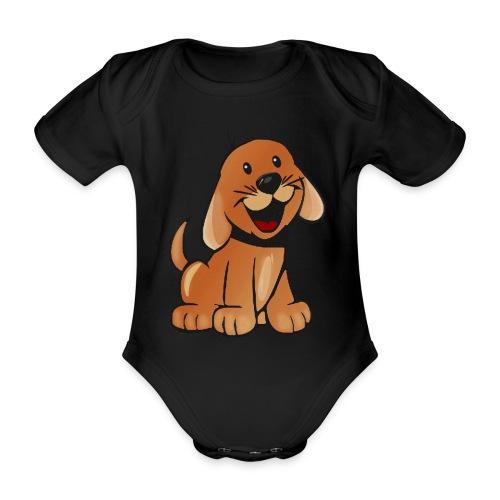 cartoon dog - Body ecologico per neonato a manica corta
