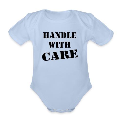 handlewithcare baby - Baby bio-rompertje met korte mouwen