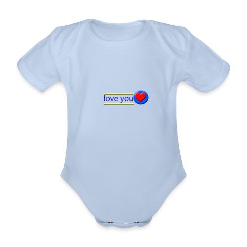 love you - Organic Short-sleeved Baby Bodysuit