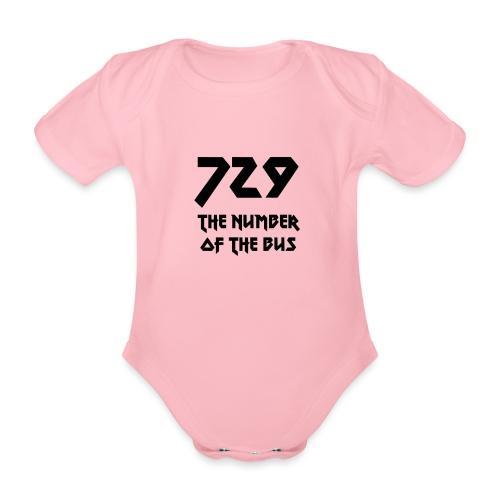 729 grande nero - Body ecologico per neonato a manica corta