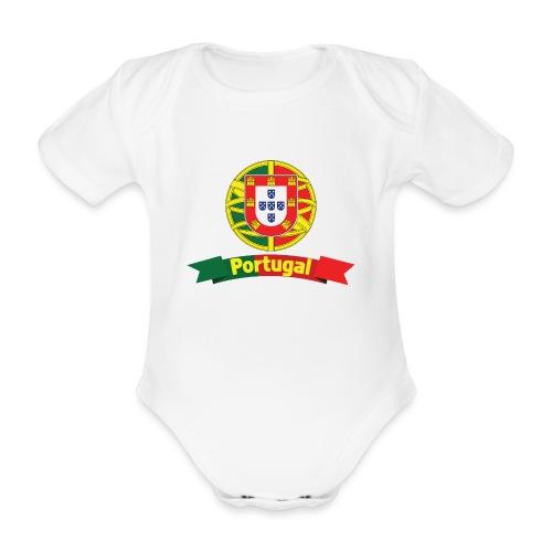 Portugal Campeão Europeu Camisolas de Futebol - Organic Short-sleeved Baby Bodysuit