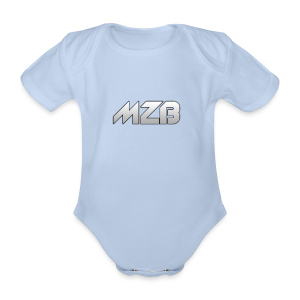 MZB Logo Design For Merch - Organic Short-sleeved Baby Bodysuit