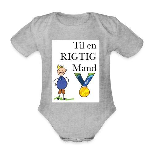 En rigtig mand - Kortærmet babybody, økologisk bomuld