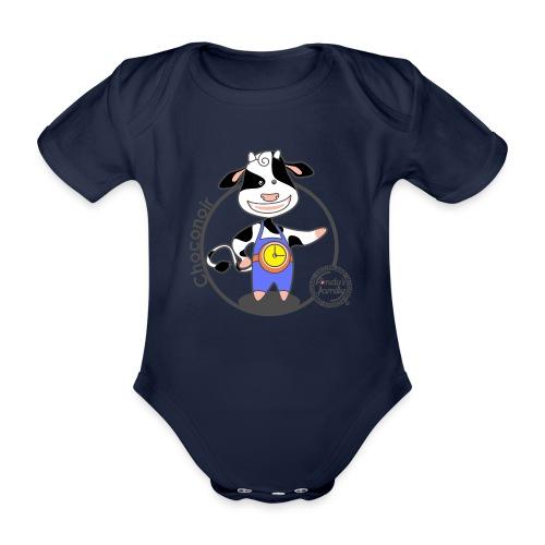 FF CHOCONOIR 01 - Baby Bio-Kurzarm-Body