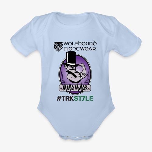 myles front 0518 - Organic Short-sleeved Baby Bodysuit