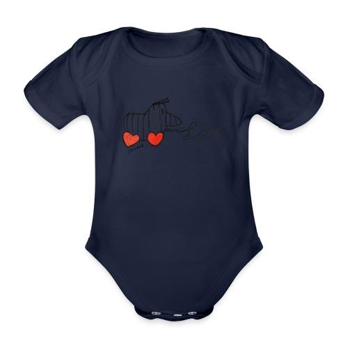 Janosch Tigerente Love Schriftzug - Baby Bio-Kurzarm-Body