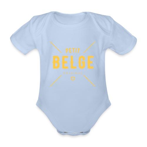 petit belge original - Body Bébé bio manches courtes