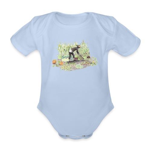 Auf dem Acker Schmal – Handgezeichnet - Baby Bio-Kurzarm-Body