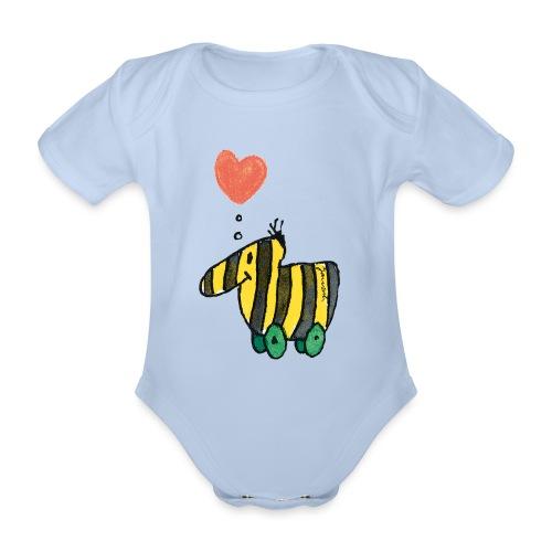 Janoschs Tigerente mit Herz - Baby Bio-Kurzarm-Body