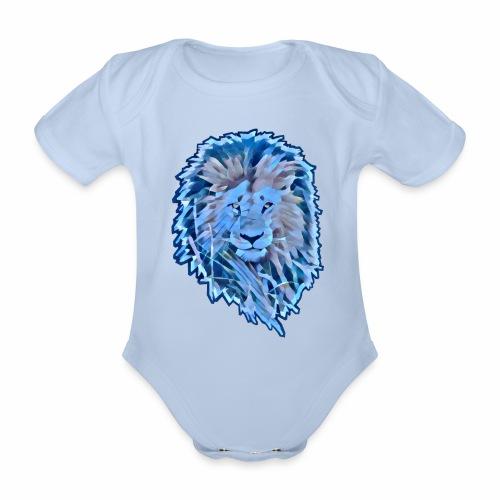 LEON Melena AZUL CUT 2000 MARJEN AZUL - Body orgánico de maga corta para bebé