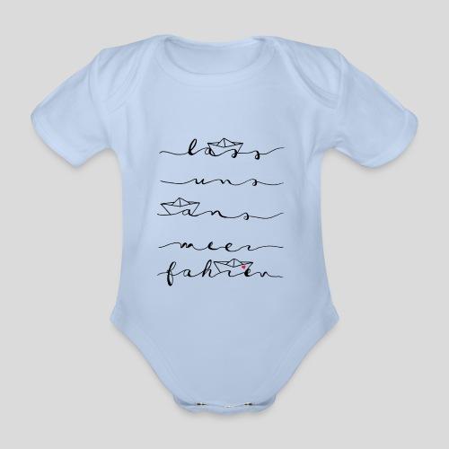 Lass uns ans Meer fahren - Baby Bio-Kurzarm-Body