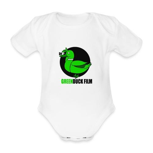 Greenduck Film Logo w. black letters - Kortærmet babybody, økologisk bomuld