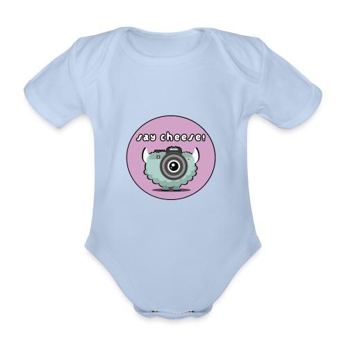 Foton The Monster Camera - Organic Short-sleeved Baby Bodysuit