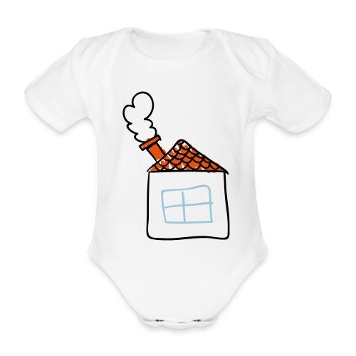 House Childs Drawing Pixellamb - Baby Bio-Kurzarm-Body