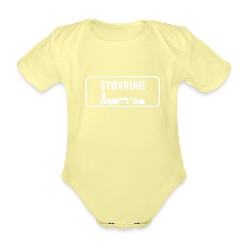 Støvring Byskilt New - Kortærmet babybody, økologisk bomuld