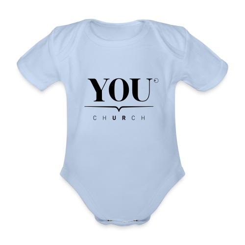 YOU Church (schwarz) - Baby Bio-Kurzarm-Body