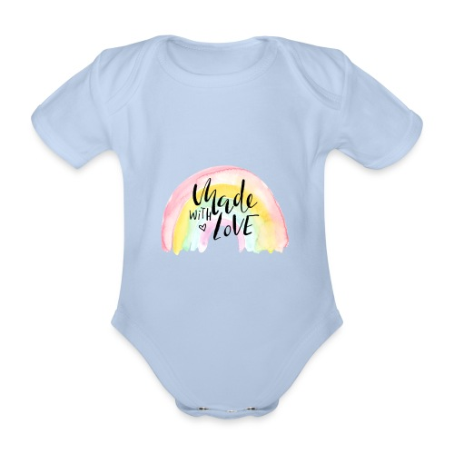 Made with Love Rainbow Baby - Baby Bio-Kurzarm-Body