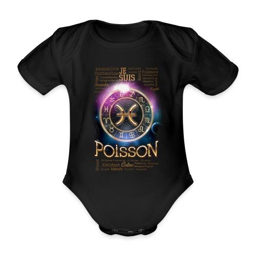 POISSONS - Body Bébé bio manches courtes