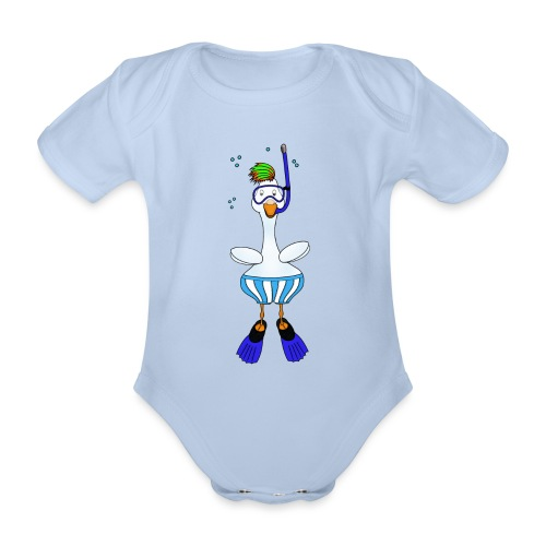 Snorkel Duck - Organic Short-sleeved Baby Bodysuit