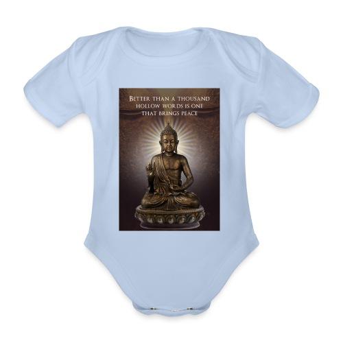 Buddha Wisdom - Organic Short-sleeved Baby Bodysuit