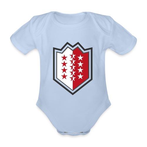 Bouclier moderne du Valais - Baby Bio-Kurzarm-Body