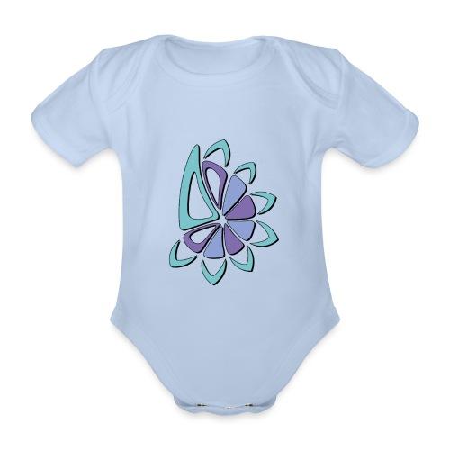 spicchi di sole freddo multicolore - Body ecologico per neonato a manica corta