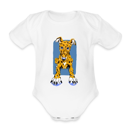 HUG Greyhound Pup - Organic Short-sleeved Baby Bodysuit