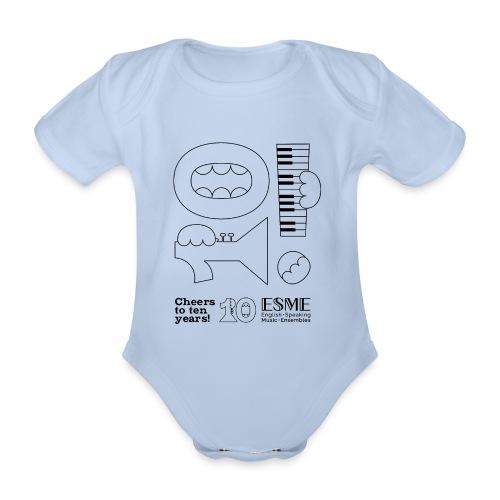 ESME Anniversary Simple Design Schwartz - Baby Bio-Kurzarm-Body