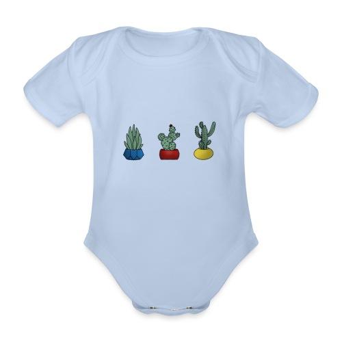 Primary cactus - Kortærmet babybody, økologisk bomuld