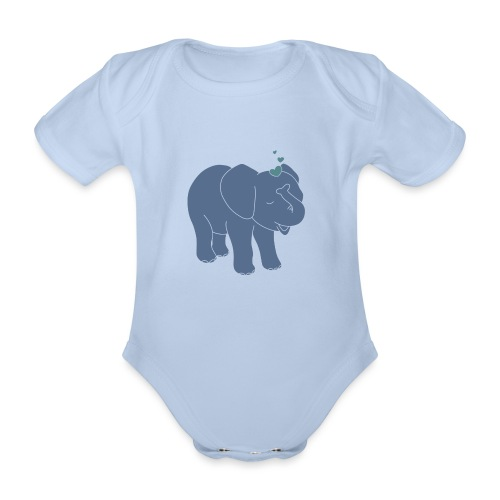Little elephant - Baby Bio-Kurzarm-Body