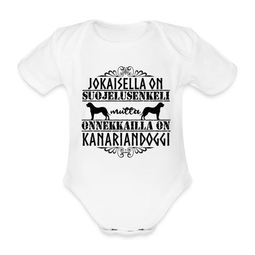 Kanariandoggi Enkeli II - Vauvan lyhythihainen luomu-body