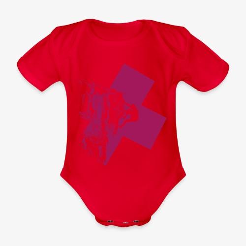 Climbing away - Organic Short-sleeved Baby Bodysuit