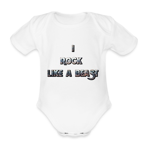 Irocklikeabeast Logo - Ekologisk kortärmad babybody