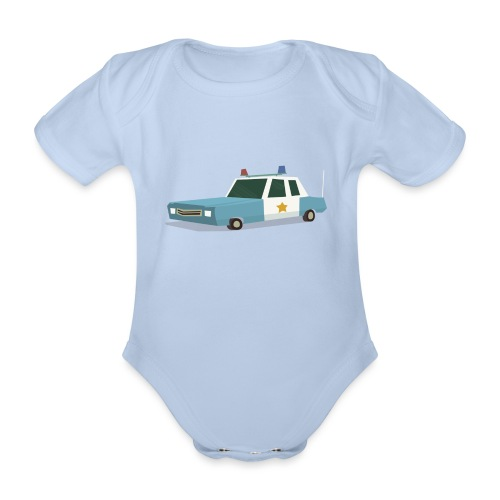 Police car t shirt - Organic Short-sleeved Baby Bodysuit