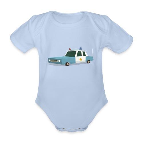 Police car t shirt - Organic Short-sleeved Baby Bodysuit
