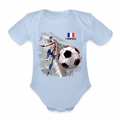 FP22F 03 FRANCE FOOTBALL - Vauvan lyhythihainen luomu-body