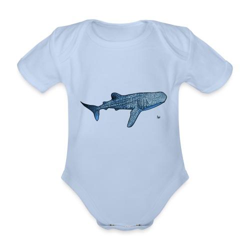 Whale shark - Organic Short-sleeved Baby Bodysuit