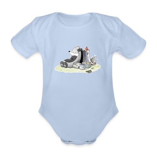 Siesta Time - Økologisk kortermet baby-body