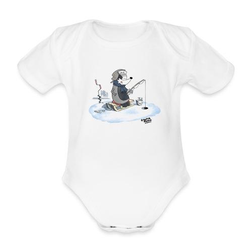 Ice Fishing Badger - Økologisk kortermet baby-body