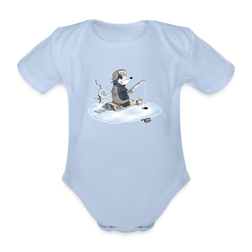 Ice Fishing Badger - Økologisk kortermet baby-body