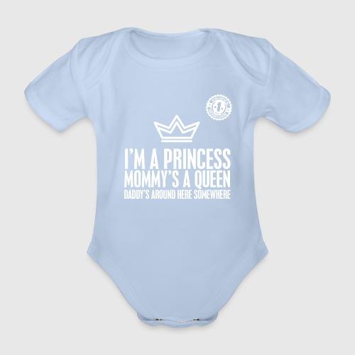 PRINCESS png - Kortærmet babybody, økologisk bomuld