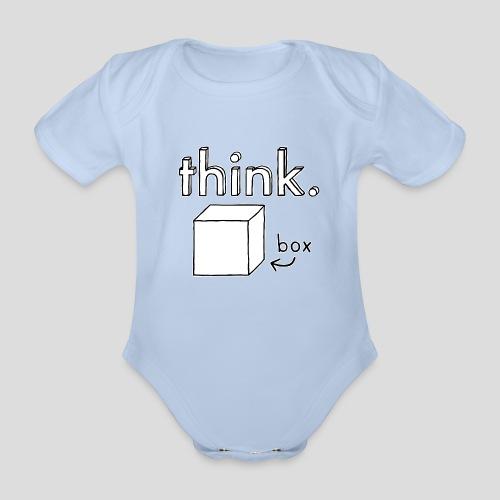 Think Outside The Box Illustration - Organic Short-sleeved Baby Bodysuit