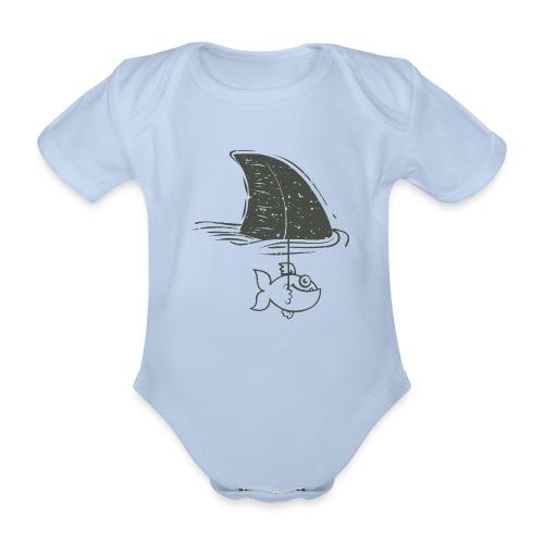 Tiburón - Body orgánico de manga corta para bebé