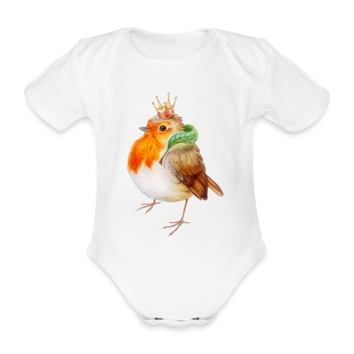 Koninklijk Roodborstje - Organic Short-sleeved Baby Bodysuit
