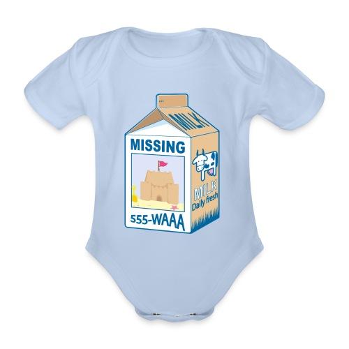 Missing : Sand castle - Organic Short-sleeved Baby Bodysuit