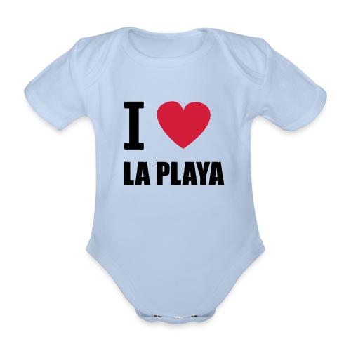 I love LA PLAYA Herz solo klein - Baby Bio-Kurzarm-Body