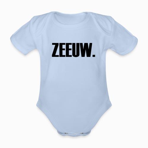 ZEEUW - Lekker Zeeuws - Baby bio-rompertje met korte mouwen